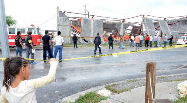 Se derrumba una iglesia en Nuevo León