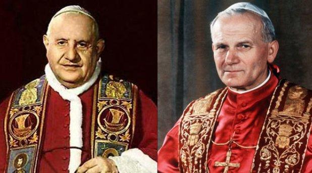 Juan XXIII y Juan Pablo II serán canonizados el 27 de abril próximo