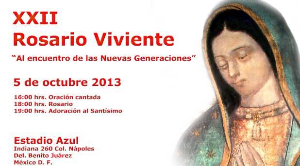 Arquidiócesis de México realizará Rosario viviente