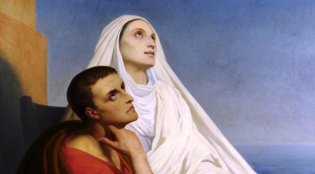 San Agustín y santa Mónica: lágrimas y conversión