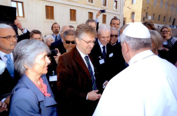 Jaime Septien con Papa Francisco w