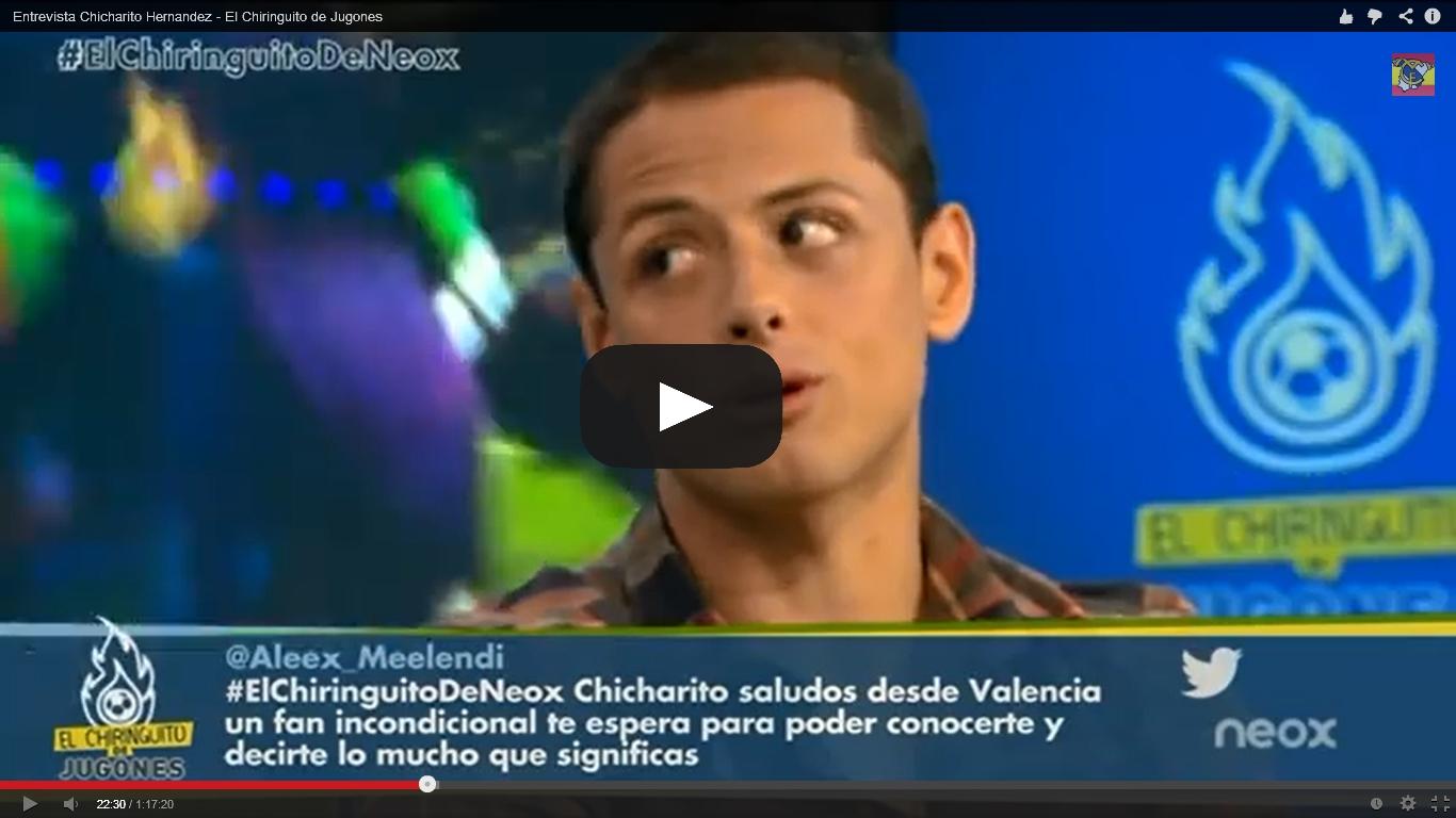 Ve el video de la entrevista: Chicharito se declara devoto de San Juan Pablo II