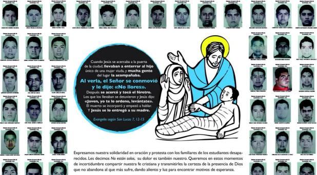 Convoca la Universidad Pontificia a Eucaristía por normalistas desaparecidos