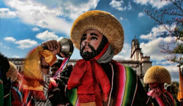 """Fiesta de """"Parachicos"""" en Chiapa de Corzo"""