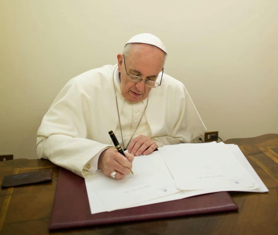 Papa envía carta de perdón