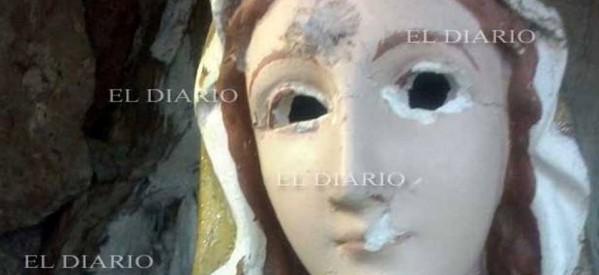 Dañan imagen de la Virgen en Chihuahua México