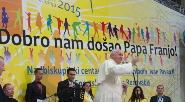Salvar la esperanza, ser puente de fraternidad: Francisco a jóvenes de Bosnia-Herzegovina