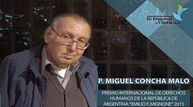 Reconocen labor del dominico Miguel Concha Malo en favor de los derechos humanos
