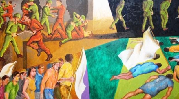 Inauguran mural de mártires jesuitas de El Salvador
