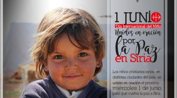 Niños cristianos sirios se unen para rezar por la paz