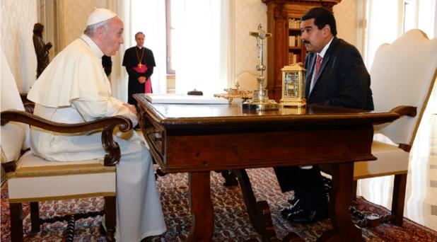 Emprender con coraje el diálogo: exhortación del Papa al presidente de Venezuela