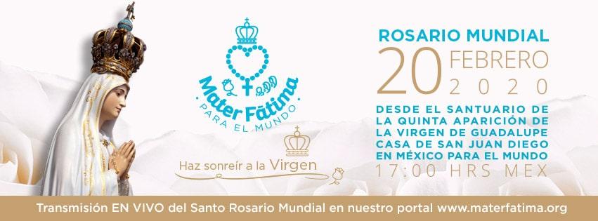 Mater Fátima 2020: pedir la intercesión de la Virgen María por la paz del mundo