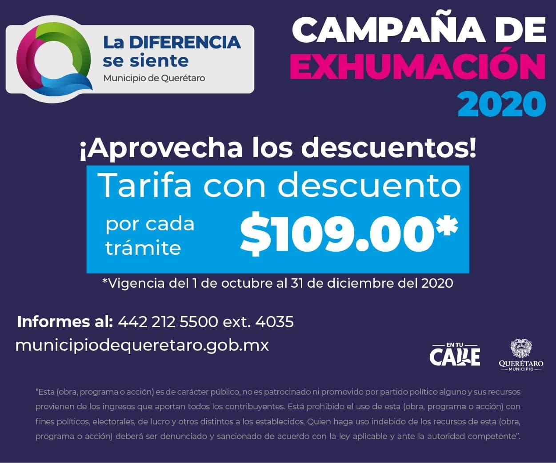 Campaña de exhumación Querétaro