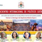 II Encuentro Internacional (presencial) de Políticos Católicos
