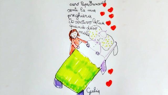 Carta de Giulia al Papa: «Escuché tu oración cuando estaba enferma»